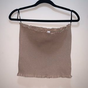 H&M NWT smocked nude tube top